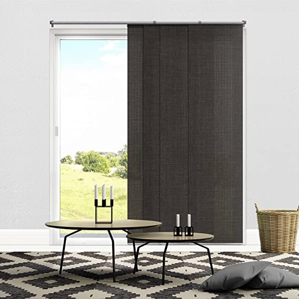 Chicology Adjustable Sliding Panels Cut To Length Vertical Blinds Nautical Grey Light Filtering Up To 80 W X 96 H