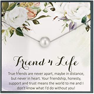 Grace of Pearl Best Friend Necklace Gift for Friend Jewelry for Friendship Necklace