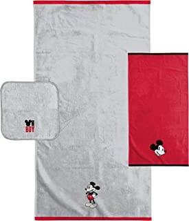Disney Mickey Mouse Kids 3 Piece Bath Towel Set – Bath, Hand, Washcloth Set - Super Soft & Absorbent Fade Resistant Cotton Towels (Official Disney Product)