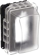 Taymac MM510C Single-Gang Horizontal/Vertical Weatherproof Receptacle Cover, 3.75 Inches Deep, Clear Finish