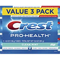 3 Count Crest Pro-Health Smooth Formula Toothpaste, Clean Mint, 4.6 oz.