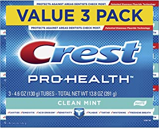 Crest Pro-Health Smooth Formula Toothpaste, Clean Mint, 4.6 oz, 3 Count (Packaging May Vary)