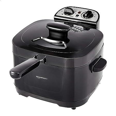 Amazon Basics 2 Liter Electric Deep Fryer, Black