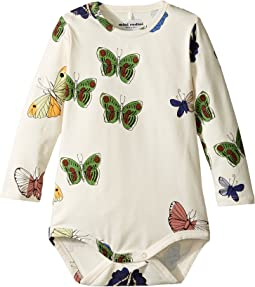 mini rodini - Butterflies Long Sleeve Bodysuit (Infant)