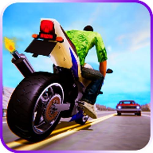 tráfico de carreras en motocicleta
