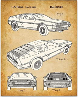 DeLorean DMC-12-11x14 Unframed Patent Print - Great Garage Decor or Gift Under $15 for Back to the Future Fans
