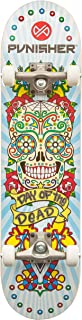 Punisher Skateboards Day of The Dead 31.5 Dual-Kick with Concave Complete Skateboard,  White