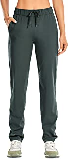 CRZ YOGA Women's Stretch Lounge Sweatpants Drawstring Travel Athletic Training Pants