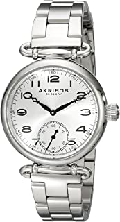 Akribos XXIV Women's Watch Sharp Sunray Dial - Seconds Subdial On Stainless Steel Bracelet - AK806