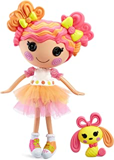 """Lalaloopsy Doll - Sweetie Candy Ribbon with Pet Puppy, 13"""" Taffy Candy-Inspired Doll with Changeable Pink and Yellow Outfi..."""