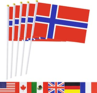 Norway Stick Flag,TSMD 50 Pack Hand Held Small Norwegian Nordmann Flags On Sticks,International World Country Stick Flags Banner,Party Decorations For Olympics,Sports Clubs,Festival Events Celebration