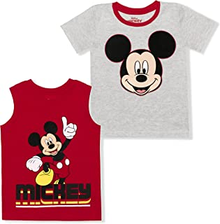 Disney Boy's 2-Pack Mickey Mouse Graphic Tee and Sleeveless Shirt Set