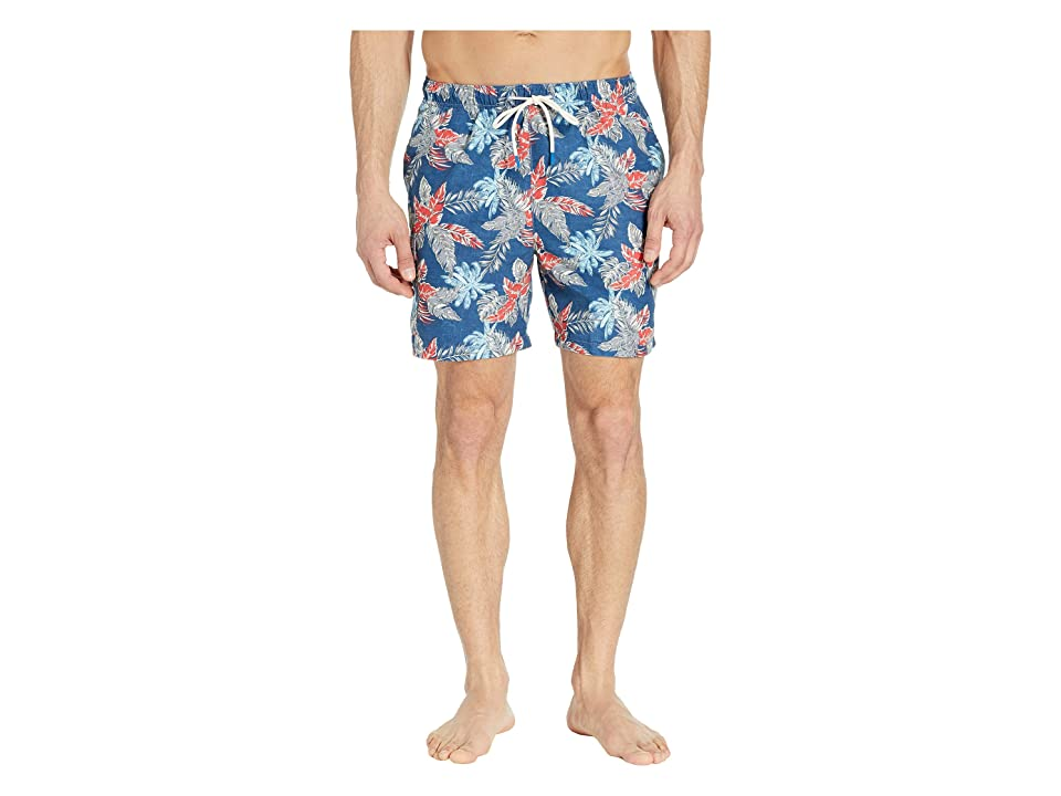 Tommy Bahama Naples Faded Palms Swim Trunks (Dockside Blue) Men