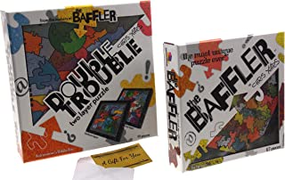 Brainwright The Baffler Jigsaw Puzzle Set 2 Bundle - The Nonagon & Astronomer's Riddle Box