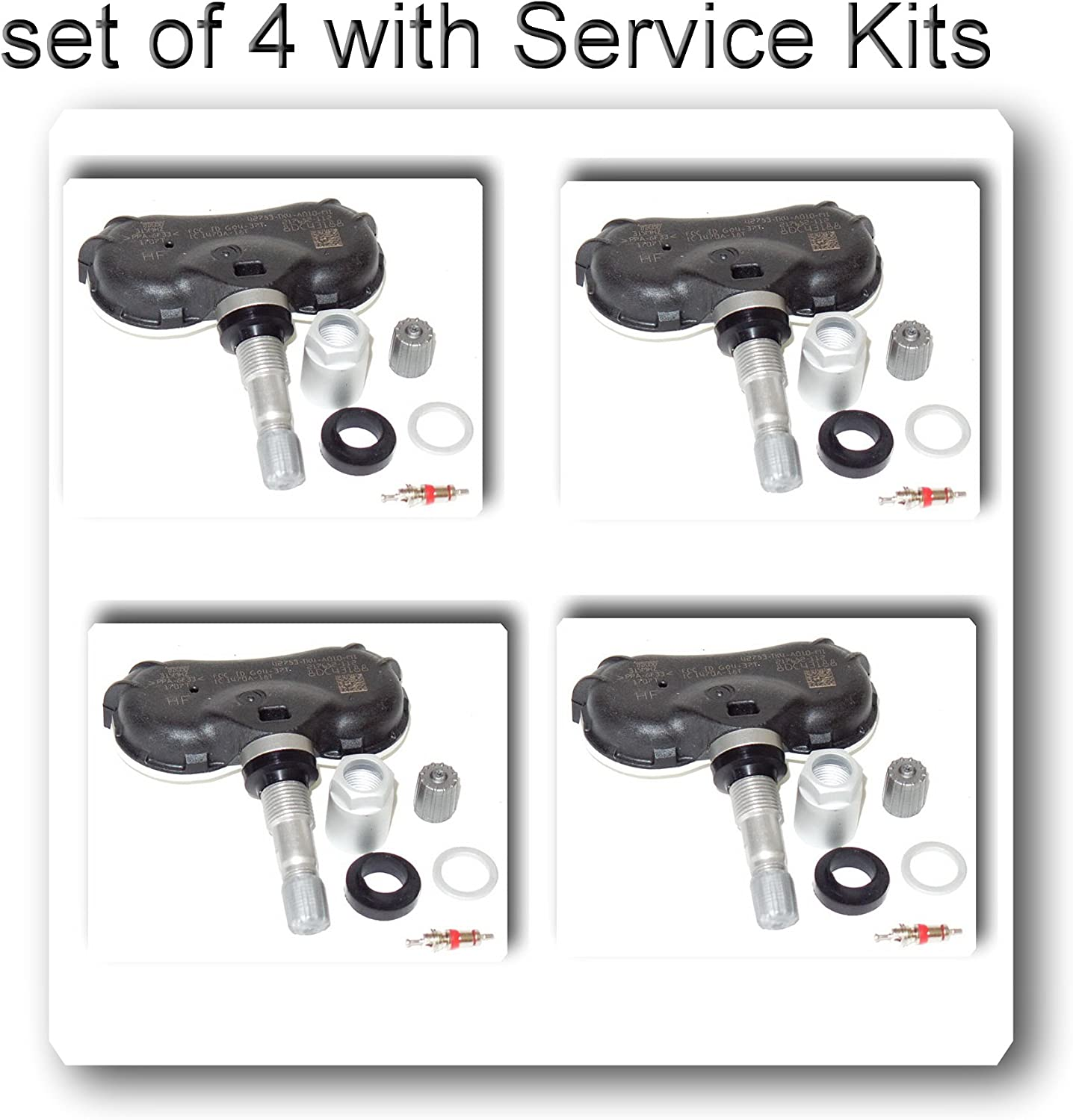Schrader OEM TRW 4 Online limited product Kits Monitorin Pressure TPMS Tire Manufacturer regenerated product 42607-0C070