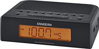 Sangean RCR-5BK Digital AM/FM Clock Radio (Black) (Renewed)
