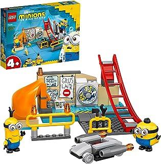 LEGO 75546 Minions in Gru's lab met Kevin en Otto Minfiguren, Minion Speelgoed voor Kinderen van 4 Jaar