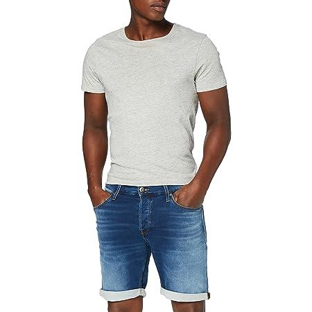 JACK & JONES Male Plus Size Jeans Shorts Rick Icon Indigo Knit