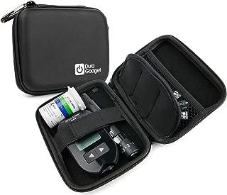 Estuche rígido y compacto para diabéticos, para transporte de glucómetro, tiras y lancetas (vacío)