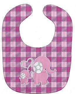 Caroline's Treasures Baby Bib, Elephant and Baby, Large