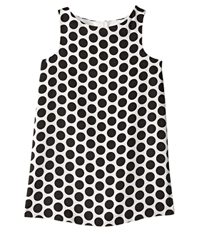 Milly Minis Angular Shift Dress (Toddler/Little Kids) (White/Black) Girl
