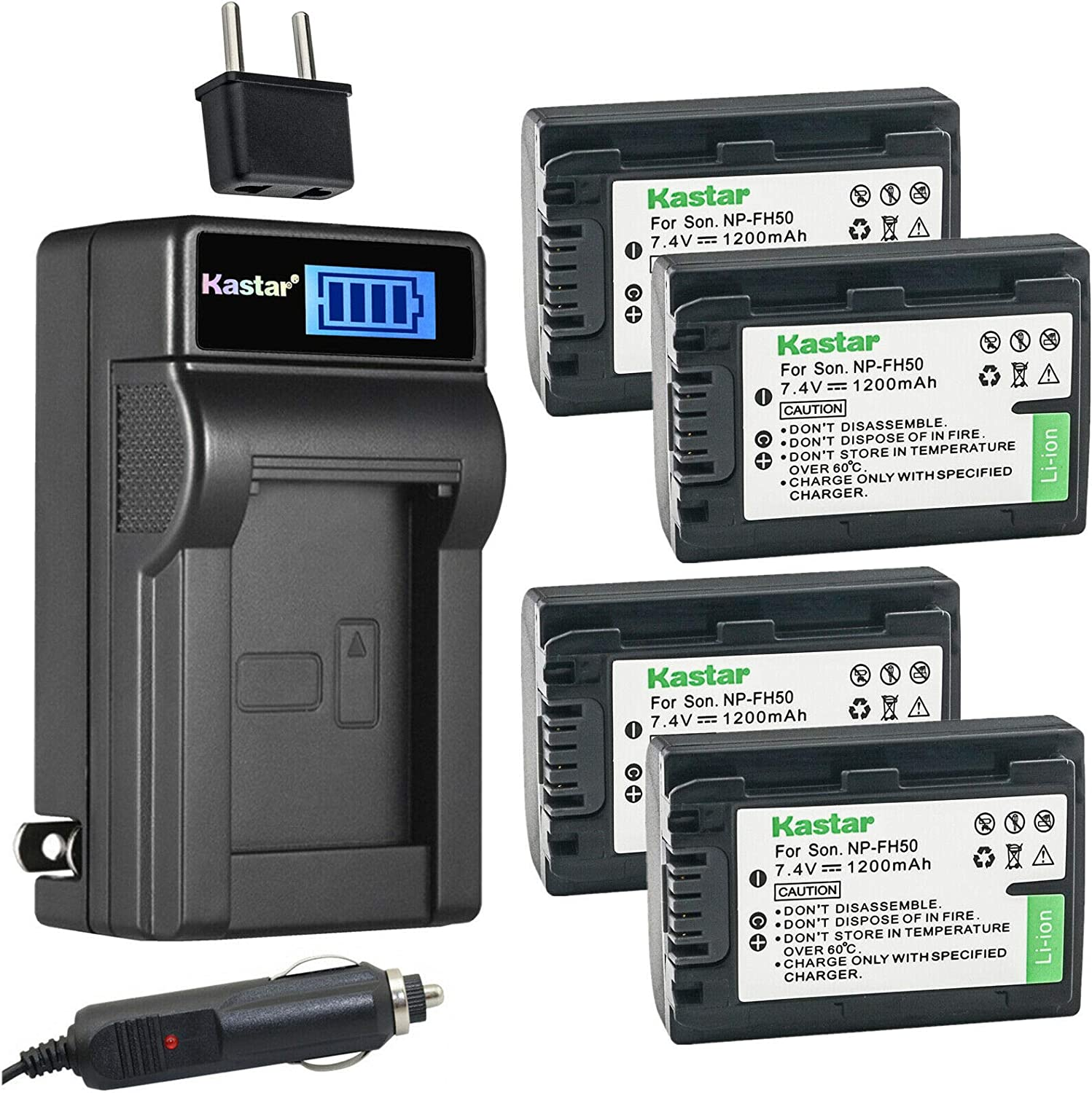 Kastar 4-Pack NP-FH50 Battery and Charger AC In a 2021 popularity with LCD Compatible