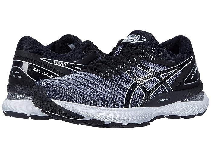 ASICS  GEL-Nimbus 22 (White/Black) Womens Running Shoes