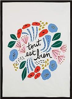Peking Handicraft 04EO101AC Tout Est Bien Kitchen Towel, 25-inch Length, Cotton