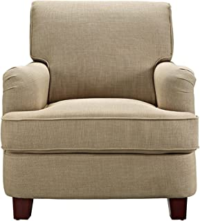Dorel Living Rolled Top Club Chair Nailheads, Oatmeal