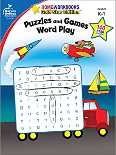 Puzzles and Games: Word Play, Grades K - 1: Gold Star Edition