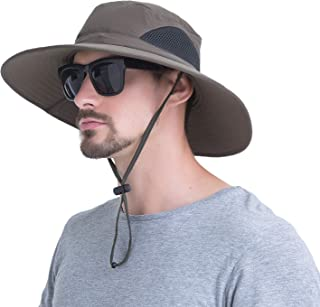 Outdoor Boonie Sun Hat - UPF 50+ Protection Wide Brim Waterproof Cap for Safari Fishing Hunting Neck Face Flap Summer Hat.YR.Lover