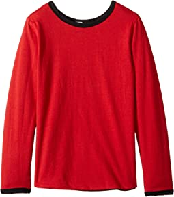 4Ward Clothing - Four-Way Reversible Long Sleeve Scoop Jersey Top (Little Kids/Big Kids)