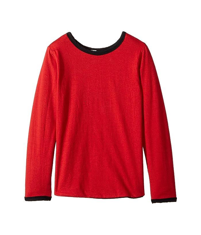 4Ward Clothing  Four-Way Reversible Long Sleeve Scoop Jersey Top (Little Kids/Big Kids) (Black/Red) Girls Sweater