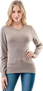 The Simpli Women's Soft Knit Round Neck Stretch Pullover Sweater