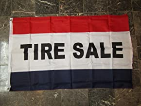 ALBATROS 3 ft x 5 ft Advertising Tire Sale Marketing Flag Brass Grommets for Home and Parades, Official Party, All Weather Indoors Outdoors