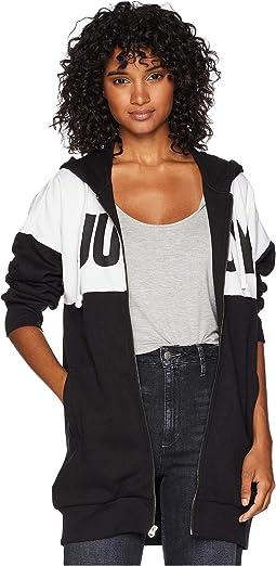 Fleece Color Blocked Oversize Jacket