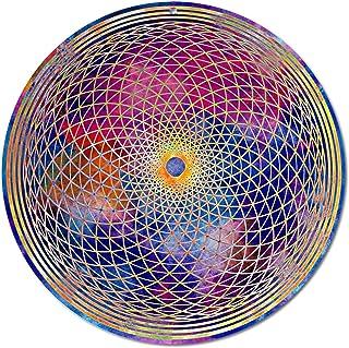 """Sun catcher"""" Chakra della corona"""" No. 19. Ø 20cm / simbolo meditazione/immagine della finestra appendiabiti/vetro acrilico..."""