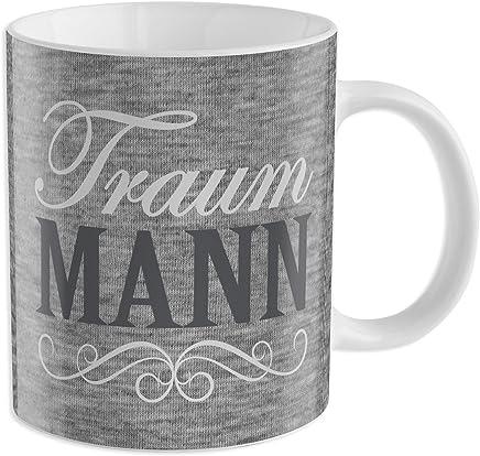"""Preisvergleich für GRUSS & CO 44216 Tasse """"Traum Mann"""", Porzellan, 35 cl"""