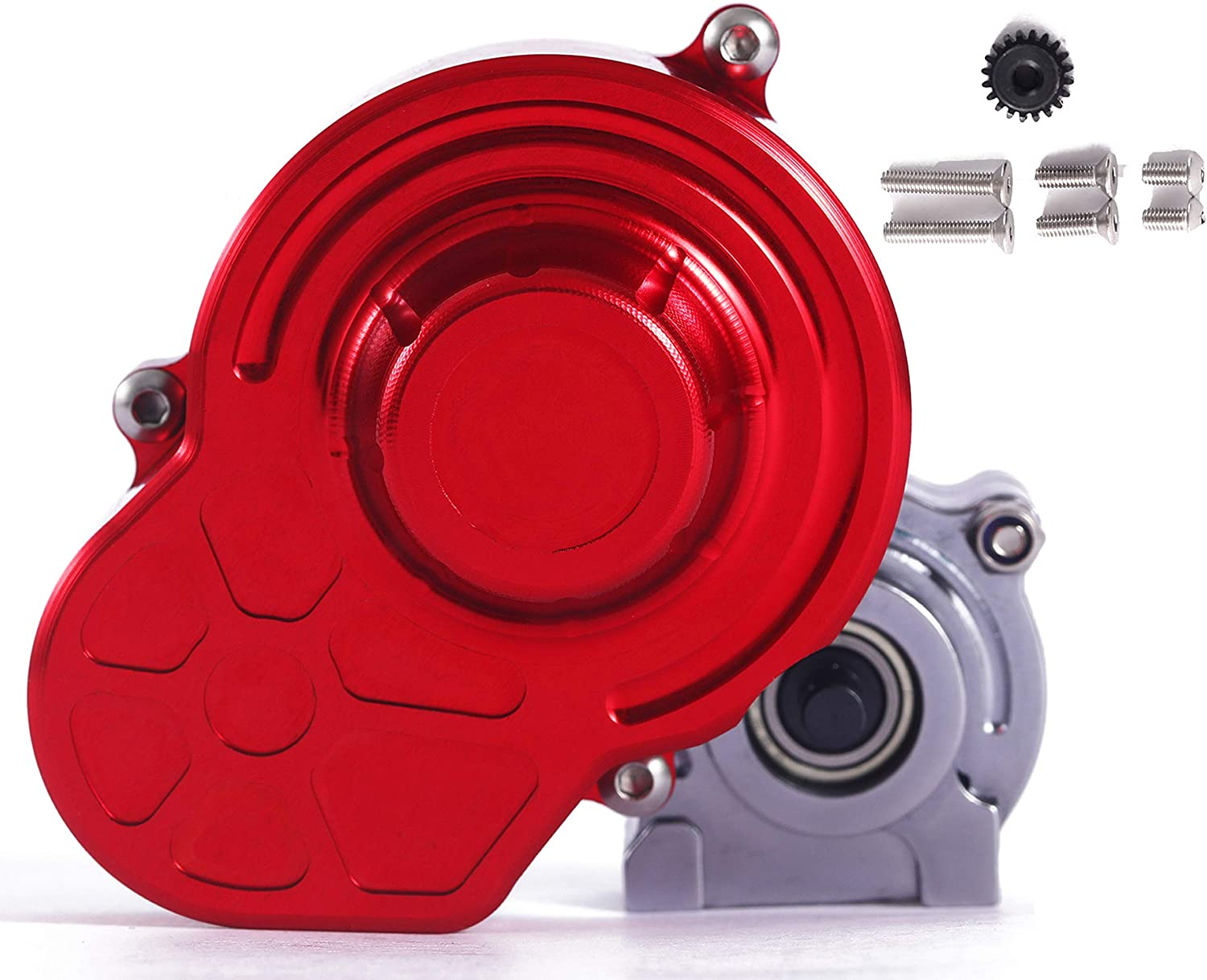Alloy Assembled Transmission Gearbox W//Motor Gear For RC 1:10 AXIAL SCX10 WRAITH