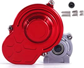 RZXYL 1/10 RC Car Transmission Case Gearbox Full Alloy Assembled for Axial SCX10 RC Crawler Car,Red