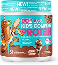 Obvi Kid's Complete Protein, High Protein, Gluten Free, Non GMO, 18 Vitamins & Minerals, Made in USA (Cocoa Cereal)