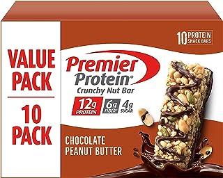 Premier Protein Crunchy Nut Bar, Chocolate Peanut Butter, 10 Count