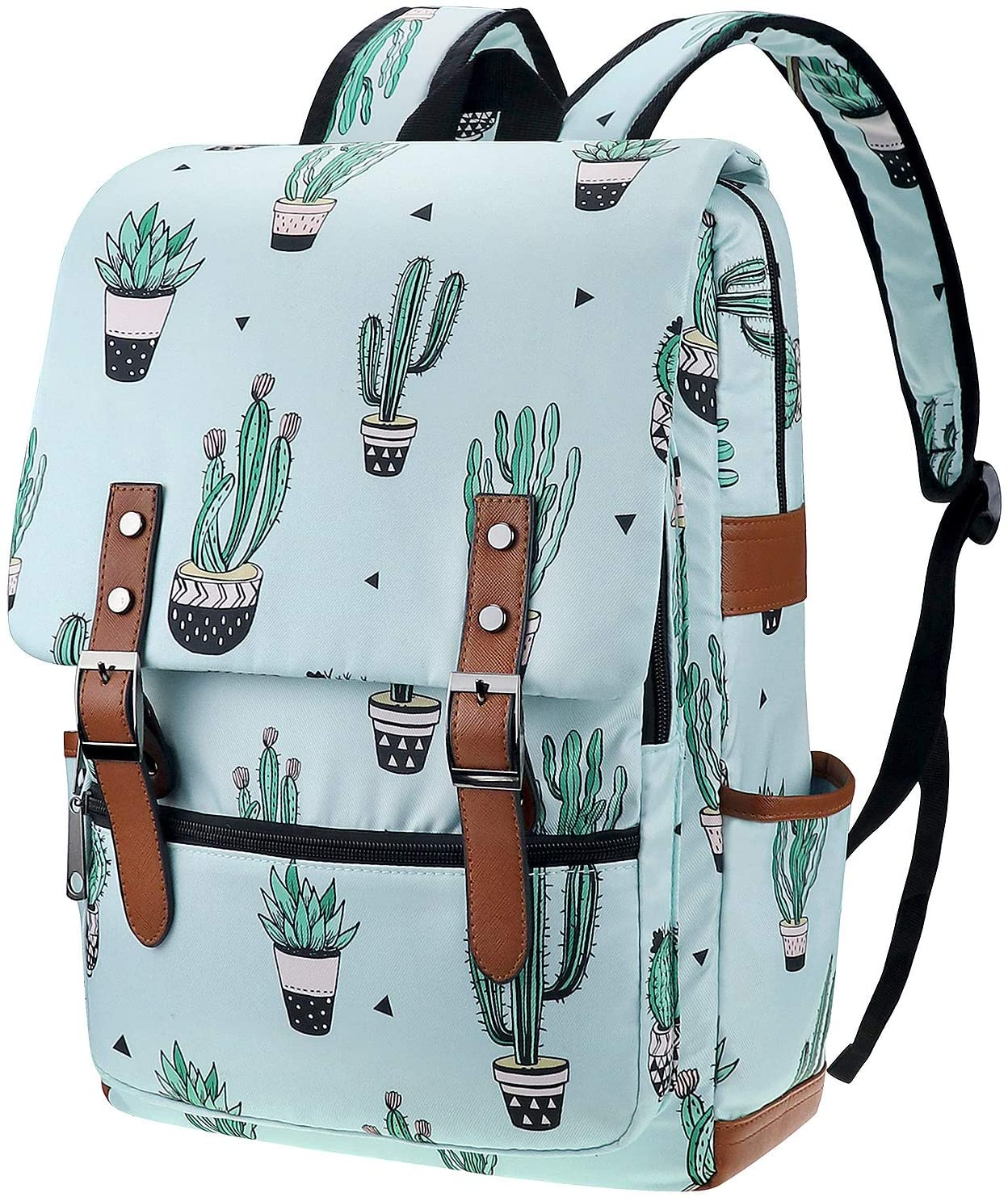 Cactus Laptop Backpack for Girls Women, College School Bookbags for Teenagers