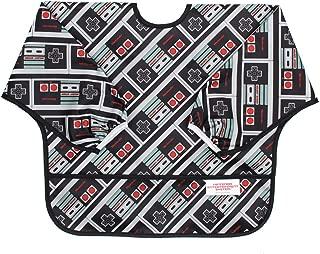 Bumkins Nintendo Sleeved Bib / Baby Bib / Toddler Bib / Smock, Waterproof, Washable, Stain and Odor Resistant , 6-24 Months - NES Controller
