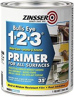 Rust-Oleum 2004 Zinsser Bulls Eye 1-2-3 Primer, 1 Quart, 946 ml, White