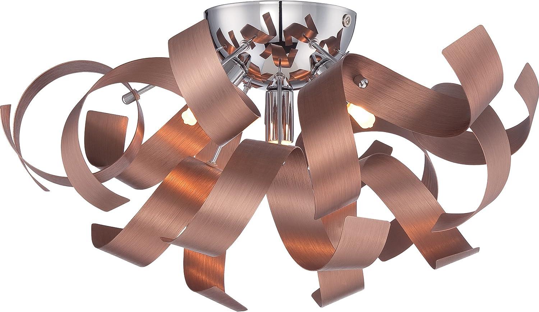 Quoizel RBN1616SG Ribbons Modern Flush Mount Ceiling Lighting 4-Light, Xenon 160 Watts, Satin Copper (8  H x 17  W)