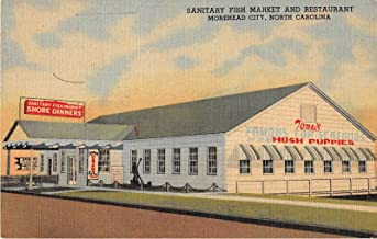 Morehead City North Carolina Sanitary Fish Market Restaurant Antique PC V18775