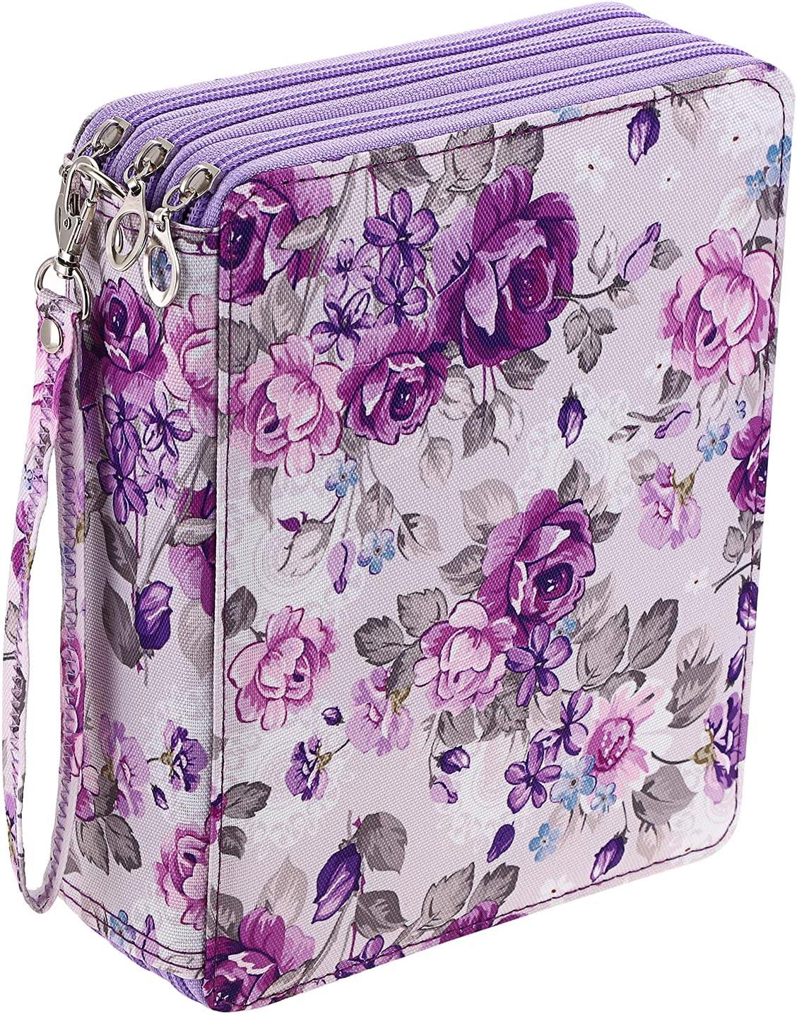 BTSKY Colored Pencil Case- 120 Slots Pen Bag Large San Antonio Mall Holder Be super welcome