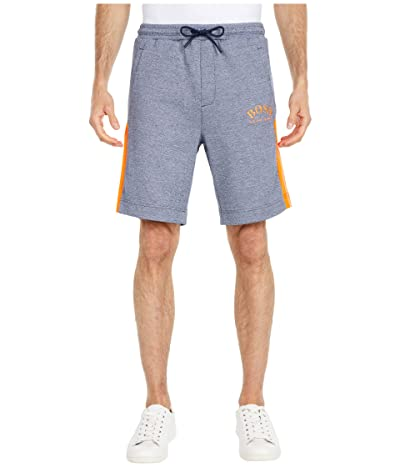 BOSS Hugo Boss Headlo Curved Logo Sweatshorts (Navy) Men