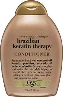 OGX Brazilian Keratin Therapy ever Staight Conditioner 13oz , 385 ml